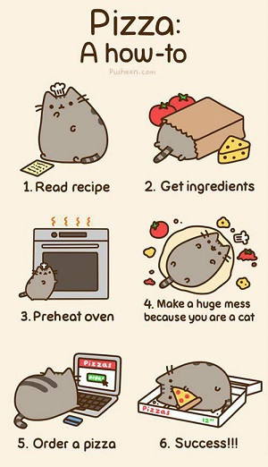 Jak zrobić pizzę - poradnik Pusheen The Cat