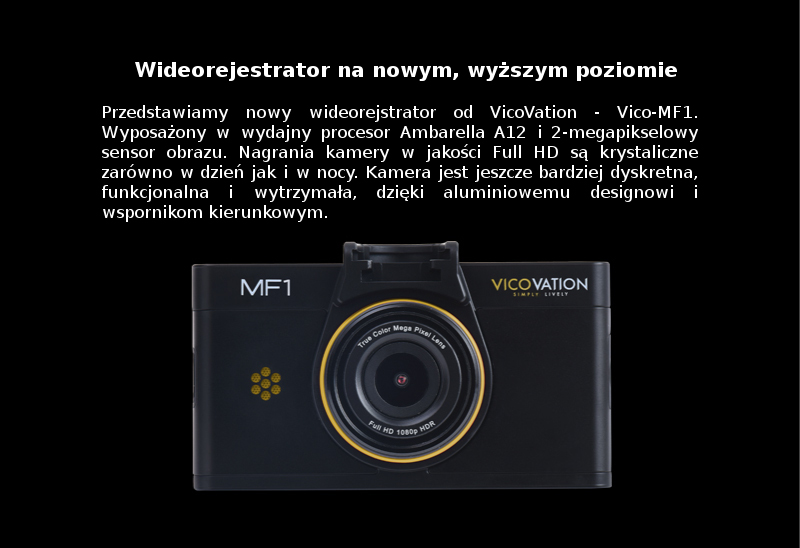 Wideorejestrator Vico-MF1