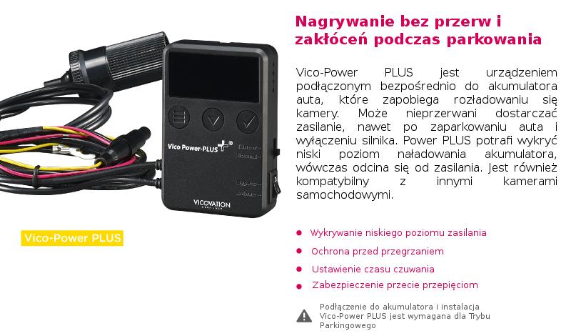 Możliwości kamery z Vico Power Plus