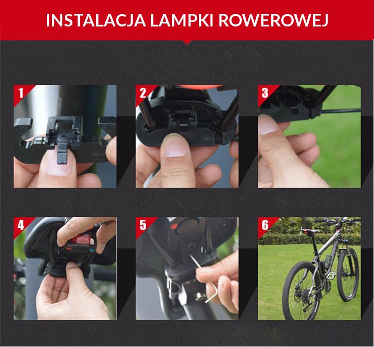 Instalacja lampki rowerowej Wheel Up