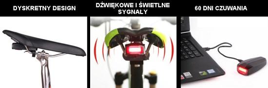 Funkcje lampki rowerowej Wheel-Up