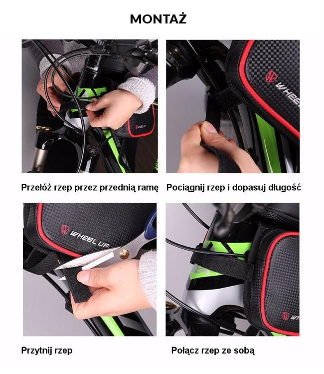 Montaż potrójnej sakwy rowerowej Wheel-Up - krok po kroku.