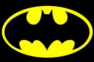 Kapcie Batmana - logo na froncie