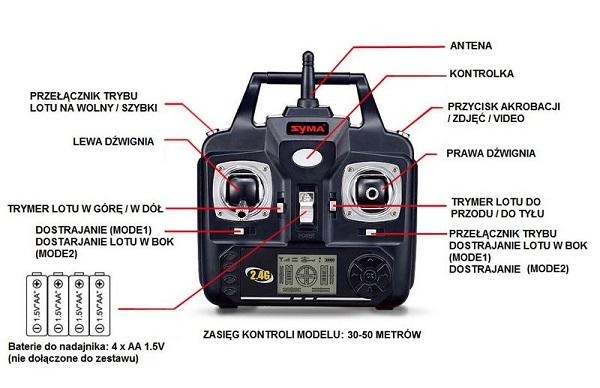 Nadajnik drona X5HW