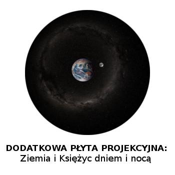 Płyta projekcyjna Homestar: Ziemia i Księżyc w dzień i w nocy
