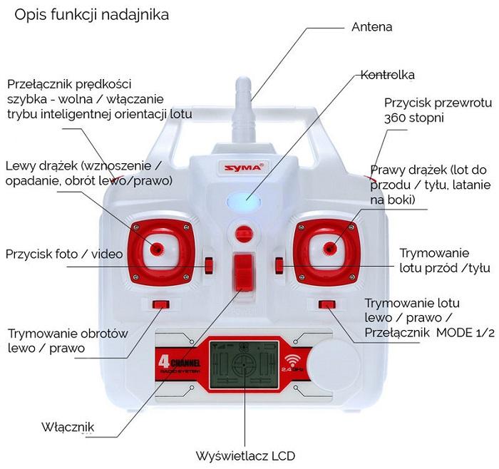 Radio drona X8HC